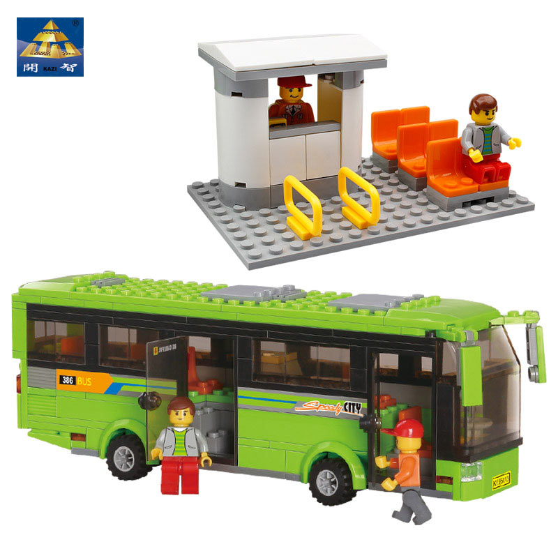 Kazi DIY Toys Childrens City Series Tourist Bus Model Building Blocks Learning &amp; Educational Brinquedos For Boys And Girls 85013<br><br>Aliexpress