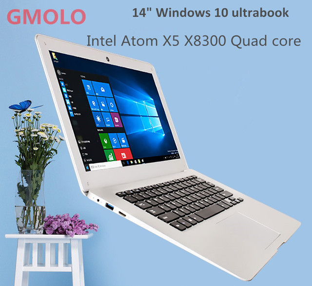 14inch ultrabook laptop Windows 10 notebook computer 10000mAh battery Intl Atom X5 Z8300 2GB 32GB EMMC ROM WIFI camera
