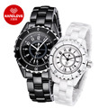 Hot Black White Classic Ceramic Watches Sapphire Waterproof H3 6807