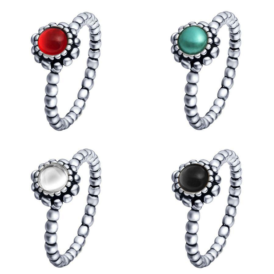 925 Sterling Silver Rings Finger Birthstone European Elegant Fashion Jewelry For Women Ring Wedding