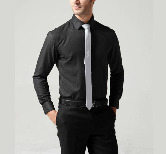 What Color Tie With Black Shirt And Grey Pants