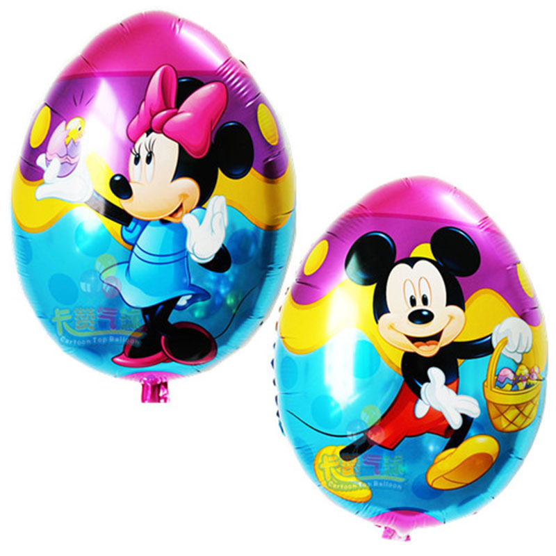 eggs shape balloon Mickey Minnie Mouse Helium Foil Balloons Red Birthday Party Decorations Inflatable Globos - Flying a small bubble store