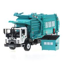 Сплавы обработки грузовик мусора, уборка автомобиля модель 1:24 мусоровоз санитарии грузовиков чистый автомобиль автомобиль игрушки kid подарков(China (Mainland))