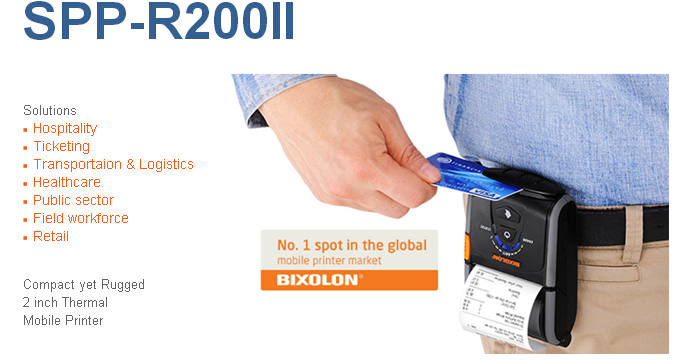 Wireless mini portable bluetooth mobile small receipt printer SPP-R200II(China (Mainland))