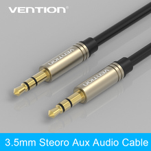 Vention  3.5mm Aux Cable Jack to Jack Gold Plated 90 Degree Right Angle Audio Cable for Car for iphone headphones(China (Mainland))