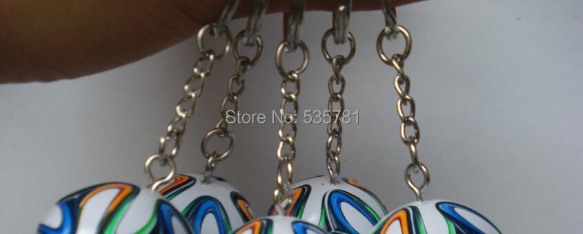 5pcs/lot 3D Brazuca keyring World Cup 2014 Brizilian Replica soccer ball keychain fans souvenir gift office decoration KC009(China (Mainland))