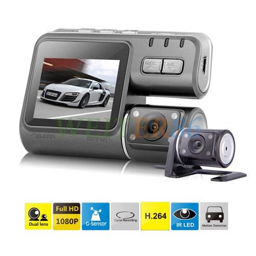 Dual Camera DVR Allwinner i1000 Full HD 1080P Dual Lens Dash Cam Video Recorder 2 Camera Night Vision Car DVR Camcorder H.264(China (Mainland))