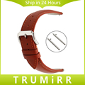 Quick Release Watchband 18mm 20mm 22mm Double 1st Layer Genuine Leather Watch Band Stainless Steel Buckle