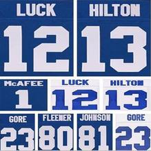 12 Andrew Luck shirts jersey #13 T.Y. Hilton #81 Andre Johnson #1 Pat McAfee stitched nice quality(China (Mainland))