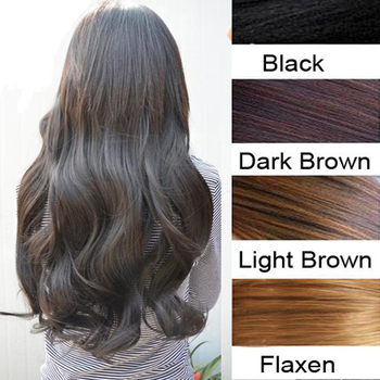 "Free Shipping New 29"" Women Ladies Long Curly Wavy 6 Clips In On Hair Extensions Full Head Top"