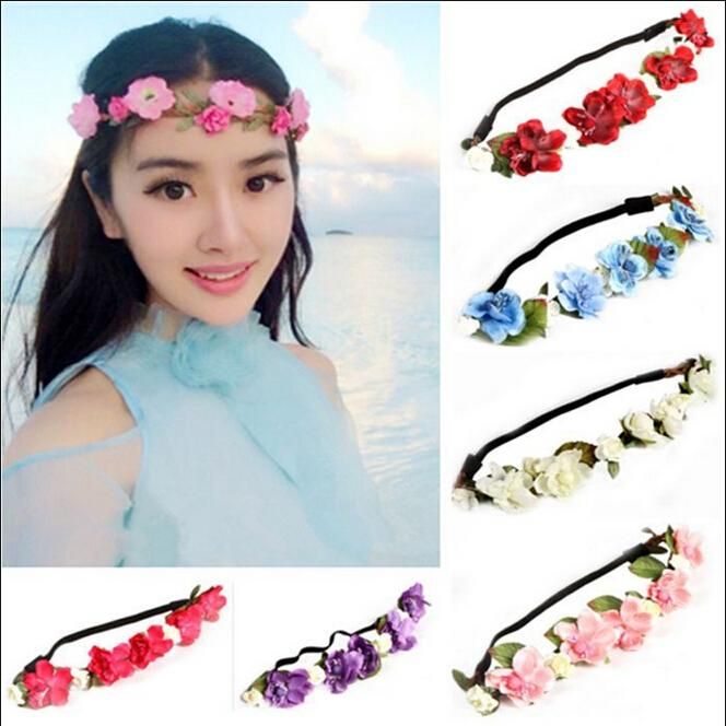 New Band Style Floral Flower Rose Party Wedding Hair Wreaths Headband Hair accessory(China (Mainland))