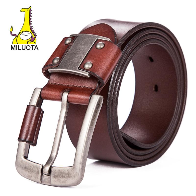 MILUOTA 2015 Luxury strap male genuine leather belts for men fashion wide belt brand cinturones