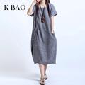 2017 Summer Dress Linen Dresses A Line Traditional Dresses Short Sleeve Plus Size Sundress Female Ethnic