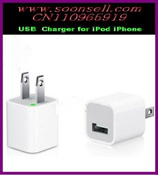 Top Selling NEW USB Wall Charger for iPod Touch Iphone 4 3G 3GS