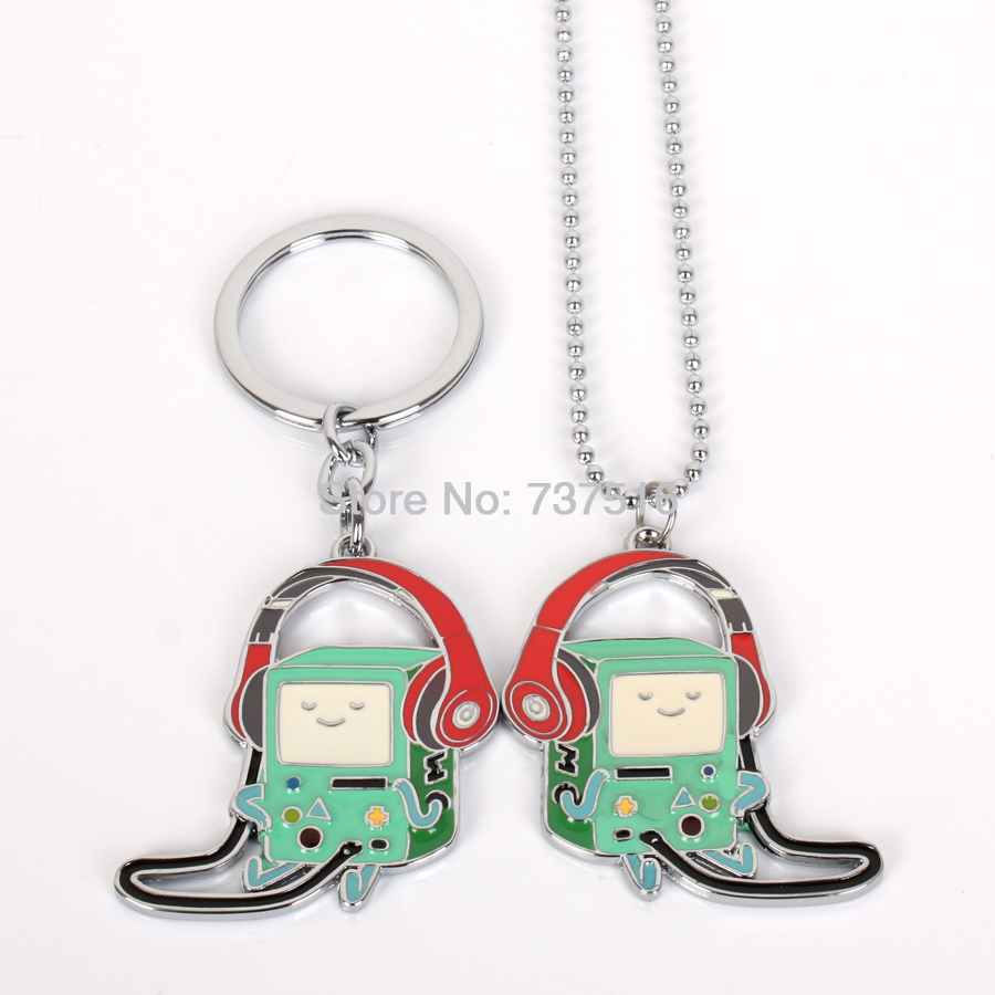 New Arrival Adventure Time Bmo Beemo Anime Lovely Shape Super Cool Metal Products set of 2pcs(China (Mainland))