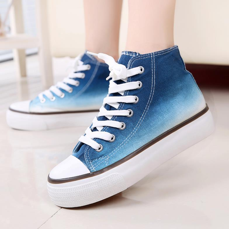 Korean version new students higher gradients thick-soled casual shoes, platform shoes canvas sneakers - Perhaps Love store
