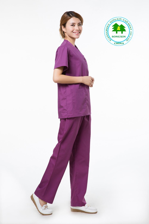 Free Shipping OEM scrub sets short sleeve medical clothing hospital uniform uniforme medico factory direct sale(China (Mainland))