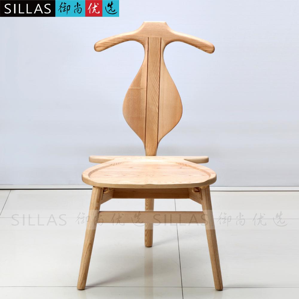 Ash wood hanger chair designer fashion personality back dining chair master chair minimalist Scandinavian restaurant(China (Mainland))