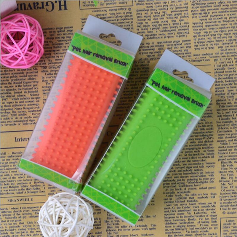 New Silicone Pet Cleaning Comb Massage Brush Hair Removal Brush For Dogs Of All Sizes Pet Grooming Cleaning Products(China (Mainland))