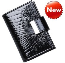Hot sellingWomen's Card Holders GENUINE LEAHTER Business ID Credit Card case ,promotion gifts JJKB08(China (Mainland))