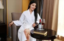 Cotton bathrobe Pure cotton bathrobe Men and women lovers sauna sweat stream under hotel The spring/summer bag mail(China (Mainland))