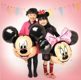 hot  new 5pcs/lots Mickey Mouse cartoon Mickey Minnie aluminum balloons party balloons wholesale children's toys(China (Mainland))