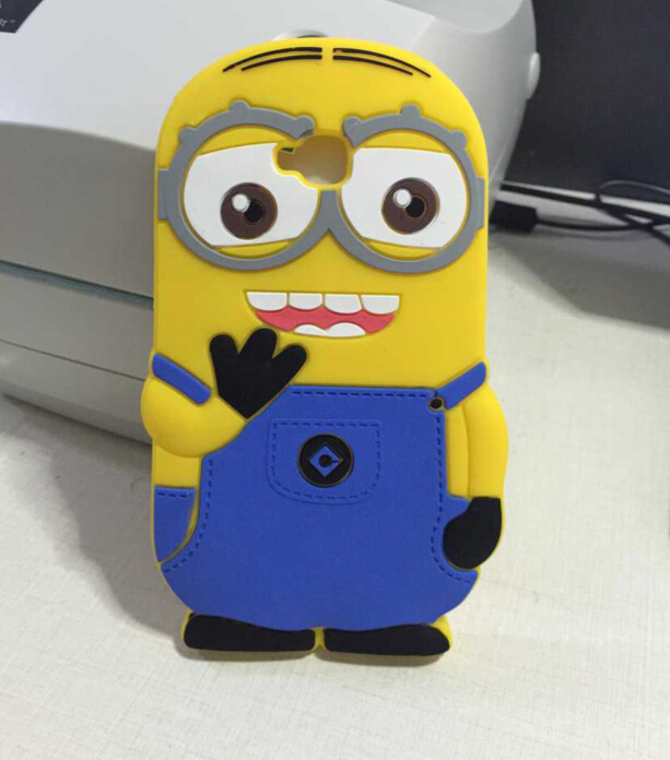 Cute Fashion 3D Despicable ME 2 Minions Silicone Cover Cases LG G Pro Lite D686 D680 D682 - Wynn yi's store