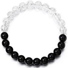 Moda de nova Frisada Mulheres Homens Pulseiras Simples Clássico Rodada Bead Charm Bracelets & Bangles For Men Presente Acessórios Feitos À Mão(China)