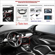2 DIN ABS Plastic Frame Panel OPEL Adam 2013 Aftermarket Radio Stereo DVD Player GPS Navigation Installation - ACP Store store