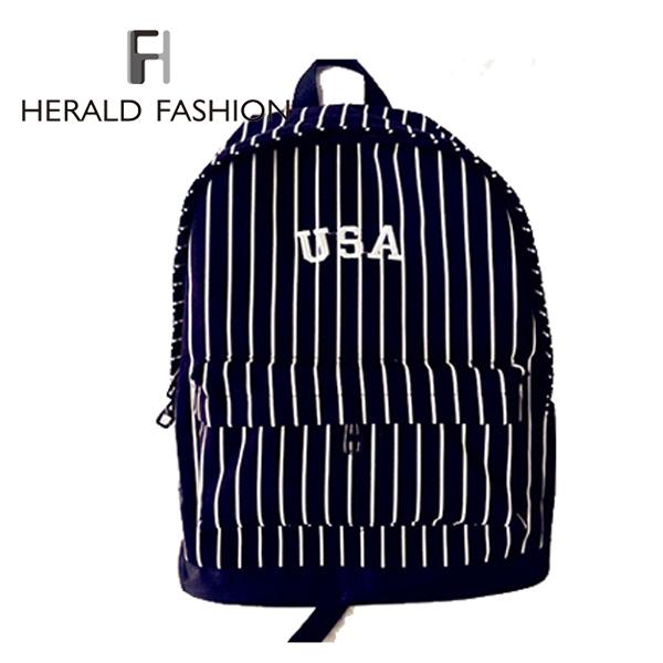 Вестник мода вмс стиль холст полосатый рюкзак старинные женщины рюкзак школьную сумку для студентов Mochila рюкзакмедицинский дорожная сумка