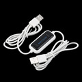 100M Black & White Light Weight Max 2.1A output V8 Micro 2.0 USB Flat Noodle Data Charger Cable For Android Cell Phones