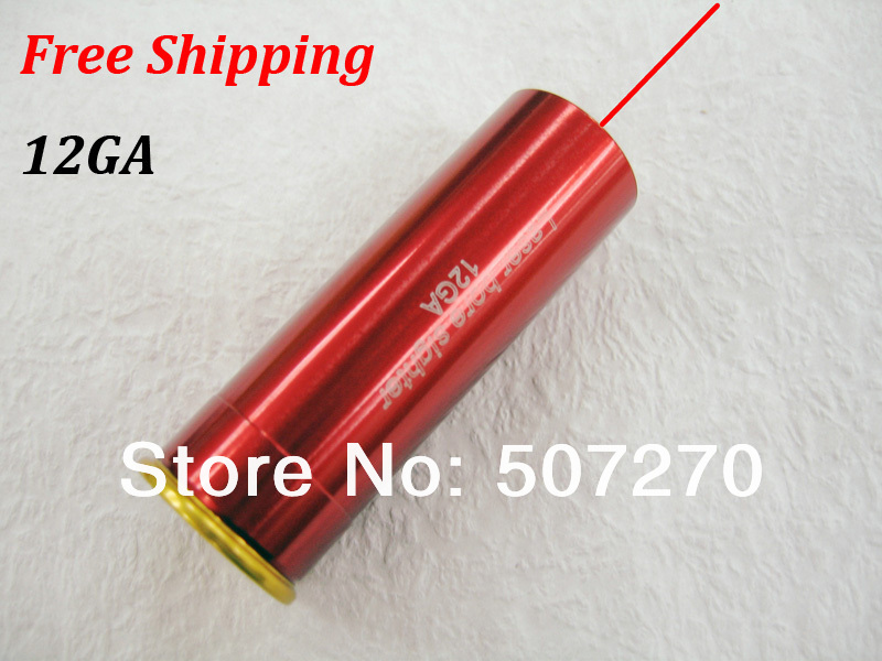 12GA New CAL:12.GAUGE Cartridge Bore Sighter Red Dot Laser Boresighter Sight Hunting Copper - Chinese Products Co.,Ltd store