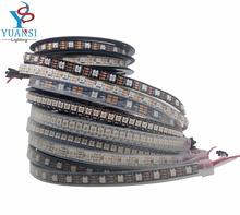 1m 2m 3m 4m 5m WS2812B 30/60/74/96/144Led/m RGB Led Strip,WS2812 5050SMD Black/White Board Ip30/Ip65/Ip67 DC5V(China (Mainland))
