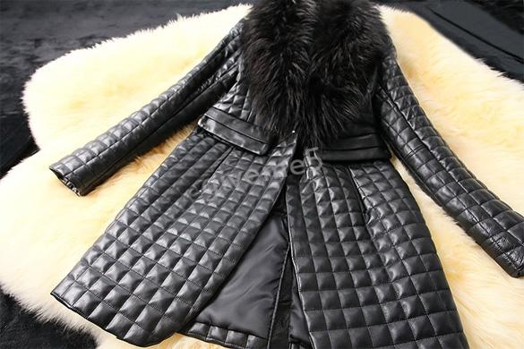 Зима женщины кожа длинная куртка, женщины искусственный мех куртка, женщины в пальто марка, женщина длинная пальто # 2
