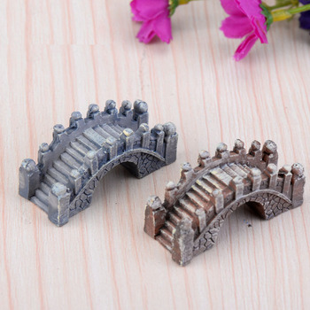 Miniature Vintage Bridge Artificial Plastic Craft Micro Landscaping Home Garden Decoration DIY Accessories Min Order $10