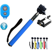 Universal Selfie Stick Bluetooth Extendable Stick Handheld Monopod For iPhone Xiaomi Samsung +Wireless Remote +Holder Self Stick(China (Mainland))