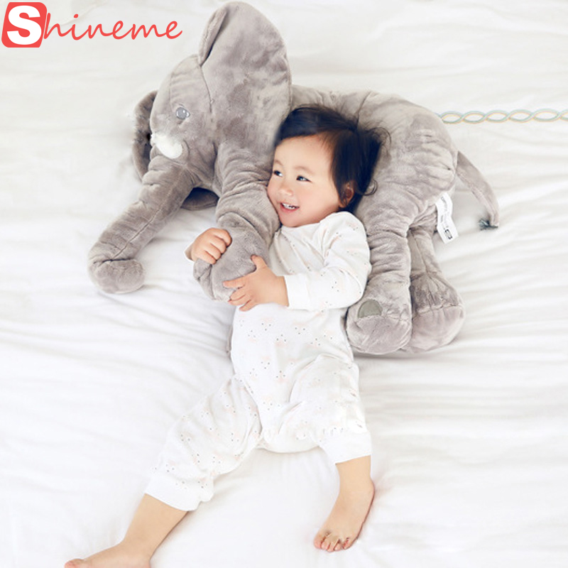5 color big size baby crib elephant plush toy stuffed elephant pillow newborn cushion doll bedding for adults kids toys car seat(China (Mainland))
