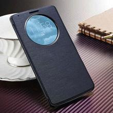 Роскошные флип кожаный чехол, Смарт кольцевой посмотреть, Корпус оболочки мобильный телефон сумка для LG G3 G 3 D855 D850 с-экран фильма