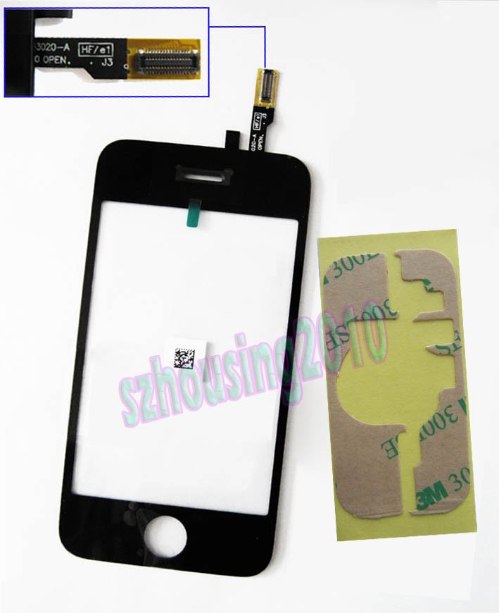 Replacement Touch Screen Digitizer+Adhesive for iPhone 3GS B0012+E4001 P