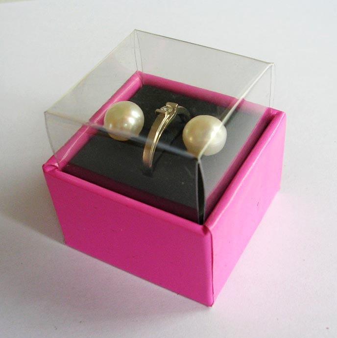 HIGH QUALITY! 10 Korean Simple design Smooth Line 2.0MM Hard Paper Earring Ring Packing Box - Ningbo Huahui Co.,ltd store