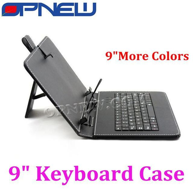 "9"" Tablet Leather Case with USB Keyboard  for 9""Tablet pc MID PDA tablet pc for Micro/USB/Mini USB port"