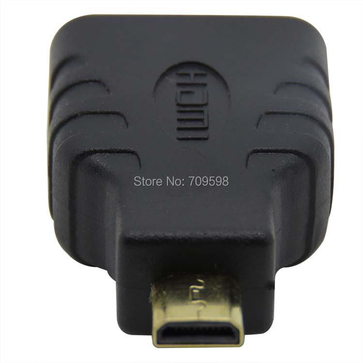 Micro HDMI Type D Plug to HDMI socket Adapter Converter free shipping(China (Mainland))