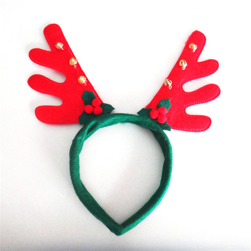 2016 Holiday Decorative Christmas Headbands Fancy Dress Party Reindeer Antlers Xmas Kids Adult(China (Mainland))