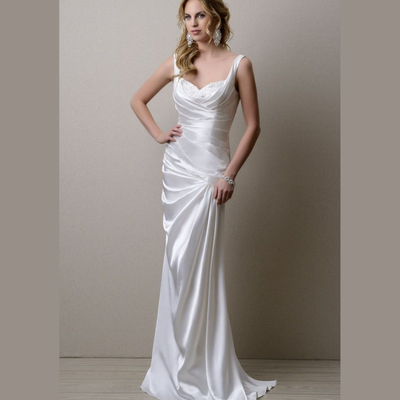 simple white satin bridesmaid dresses 2016 spaghetti