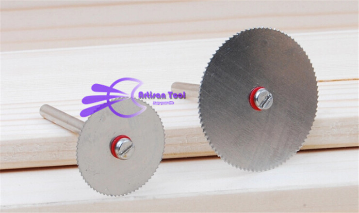 2pc 1 8 rod 15pcs 22mm Circular Saw Blades Wood Cutter Dremel accessory for Rotary Tools
