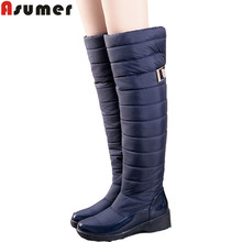 2016 new arrive keep warm snow boots fashion thick fur platform knee high winter boots for women shoes drop shipping(China (Mainland))