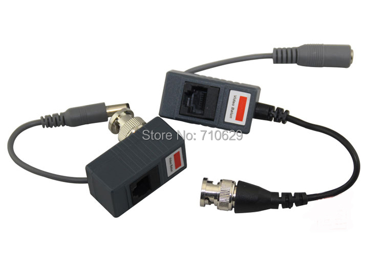 50 pairs(100pcs) DHL FREE CCTV Video Power Balun Transceiver Cable Adapter BNC Coax Cat5 pair - Able Tech store
