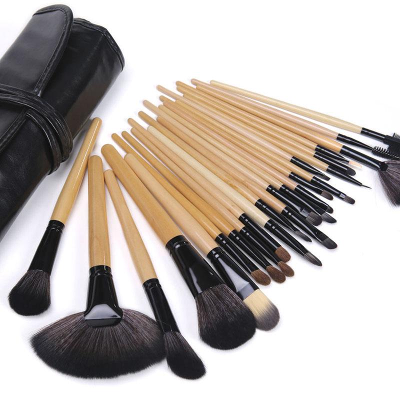 Professional 24Pcs Makeup Brushes Cosmetic Tool Kits Eyeshadow Powder Eyeliner Contour Brush Set Cas