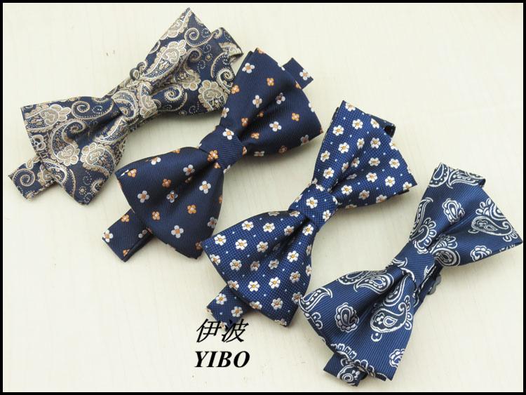 (1 pcs/lot) A few sapphire latest fashion boutique men bow tie noble atmosphere fancy design fashionable leisure bow tie(China (Mainland))