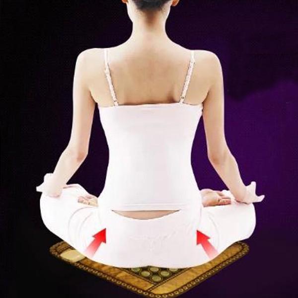 Hot Sale! Electric Heated Jade Pad /Jade,Tourmaline,Germanite Massage Jade Cushion with Heating 50*50CM  AC220V cheap